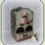 """Для дома и интерьера ручной работы. Ярмарка Мастеров - ручная работа Чайный буфет  """"Птичка на чашке"""". Handmade."""