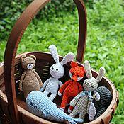 Куклы и игрушки ручной работы. Ярмарка Мастеров - ручная работа Вязаные зверушки для маленькой ладошки. Handmade.