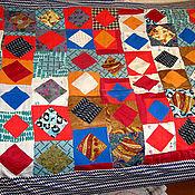 """Для дома и интерьера ручной работы. Ярмарка Мастеров - ручная работа Лоскутное покрывало """"Мурома квадрат"""". Handmade."""