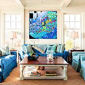Картины и панно handmade. Livemaster - original item Bright interior painting abstract Underwater world. Handmade.