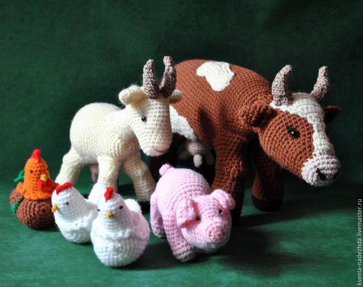"""Игрушки животные, ручной работы. Ярмарка Мастеров - ручная работа. Купить Вязаные игрушки """" Однажды в деревне.."""". Handmade."""