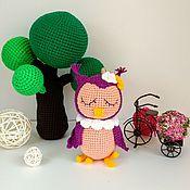 Мягкие игрушки ручной работы. Ярмарка Мастеров - ручная работа Сова сплюшка. Handmade.
