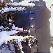Сумки и аксессуары ручной работы. Ярмарка Мастеров - ручная работа кожаная черная сумка кокос. Handmade.