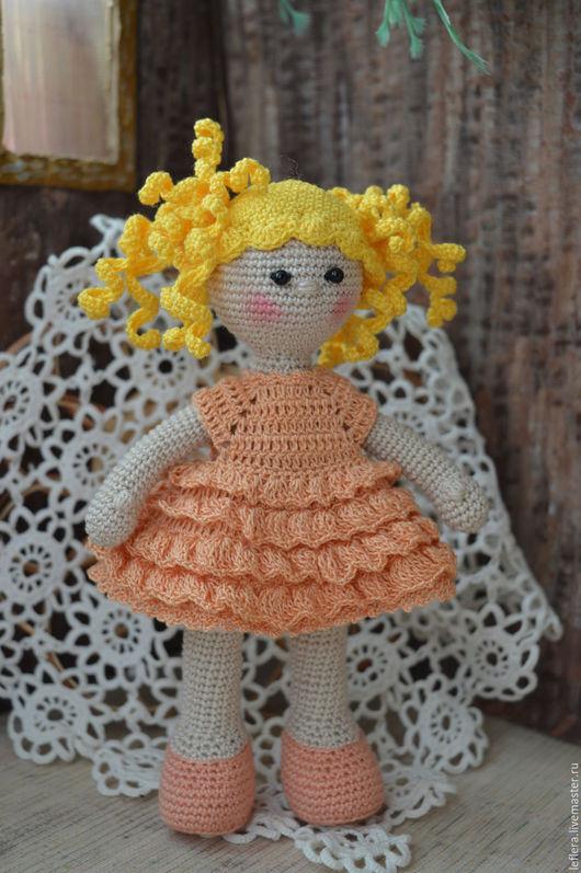 Человечки ручной работы. Ярмарка Мастеров - ручная работа. Купить Кукла вязаная Полина. Handmade. Кукла, кукла в подарок, синтепон