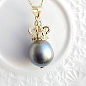 Украшения handmade. Livemaster - original item Pendant with large pearls Tahiti
