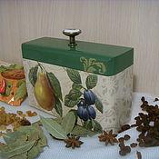 Для дома и интерьера ручной работы. Ярмарка Мастеров - ручная работа Короб для кухни деревянный декупаж  Фруктовый. Handmade.