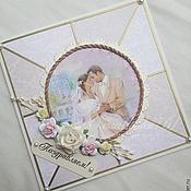 Свадебный салон ручной работы. Ярмарка Мастеров - ручная работа открытка на свадьбу. Handmade.