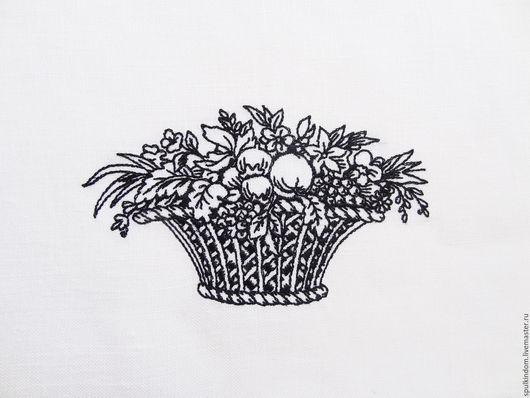 Салфетка с вышивкой `Дары Флоры`  `Шпулькин дом` мастерская вышивки