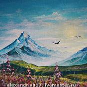 Картины и панно ручной работы. Ярмарка Мастеров - ручная работа Картина «Горы». Handmade.