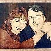 Картины и панно ручной работы. Ярмарка Мастеров - ручная работа Семейный портрет, шпон-маркетри. Handmade.
