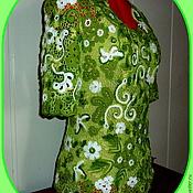 """Одежда ручной работы. Ярмарка Мастеров - ручная работа 13.Кофточка""""Свежесть зелени"""". Handmade."""