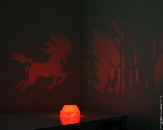 """Освещение ручной работы. Ярмарка Мастеров - ручная работа. Купить Самосвет """"Сказки"""". Handmade. Ночник, уют, тени, волшебная лампа"""