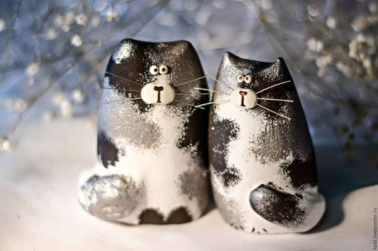 Подарки для влюбленных ручной работы. Ярмарка Мастеров - ручная работа. Купить Кот и кошка пятнистые- подарок к 14 февраля. Handmade.