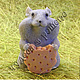 Материалы для косметики ручной работы. Ярмарка Мастеров - ручная работа. Купить Хомяк с печеньем, объемная силиконовая форма. Handmade. Голубой