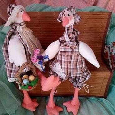 Куклы и игрушки ручной работы. Ярмарка Мастеров - ручная работа Гуси-пара. Handmade.
