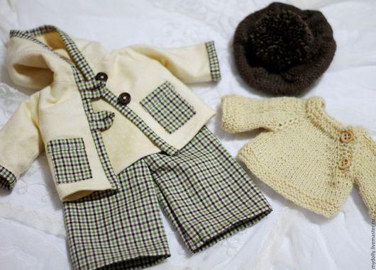 Одежда для кукол ручной работы. Ярмарка Мастеров - ручная работа. Купить Комплект демисезонной одежды для куклы 30- 34 см. Handmade.