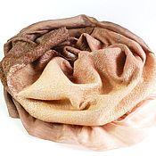 Аксессуары handmade. Livemaster - original item scarf felted Sunset in the jungle. Handmade.