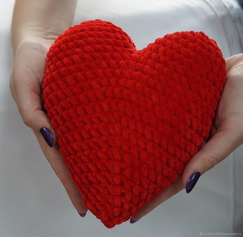 Плюшевое сердечко, Мягкие игрушки, Астрахань,  Фото №1