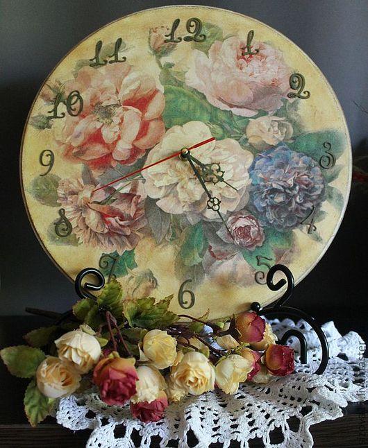 """Часы для дома ручной работы. Ярмарка Мастеров - ручная работа. Купить Часы """"Романтика"""". Handmade. Бежевый, круглые часы, handmade"""