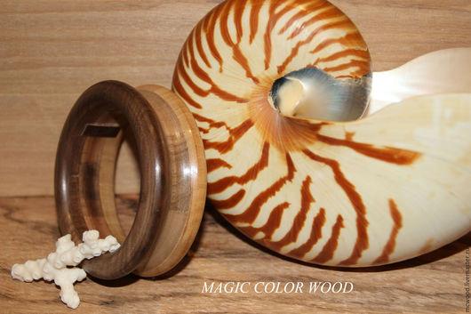 """Браслеты ручной работы. Ярмарка Мастеров - ручная работа. Купить Браслет  из дерева """"Орех"""". Handmade. Комбинированный, натуральное дерево"""