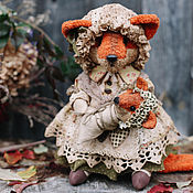 Куклы и игрушки ручной работы. Ярмарка Мастеров - ручная работа Лиса мама.. Handmade.