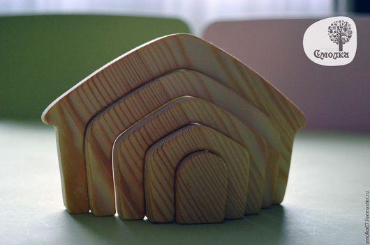 Развивающие игрушки ручной работы. Ярмарка Мастеров - ручная работа. Купить Домик-пазл (балансир). Развивающая деревянная игрушка.. Handmade.