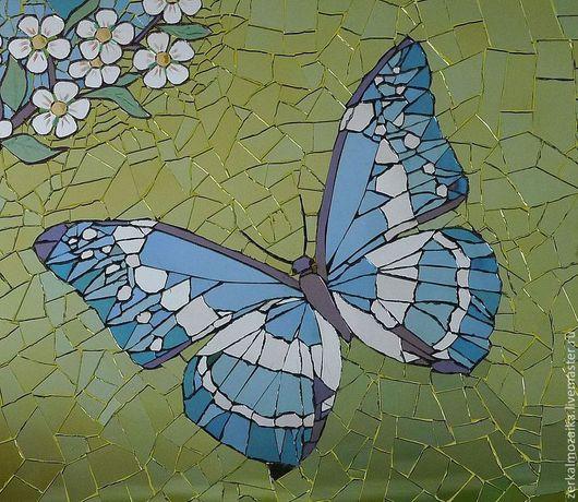 Животные ручной работы. Ярмарка Мастеров - ручная работа. Купить Голубая бабочка в весеннем саду. Handmade. Голубой, подарок девушке