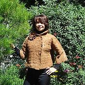 """Одежда ручной работы. Ярмарка Мастеров - ручная работа Жакет из альпаки """"Медовый"""". Handmade."""