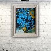"""Картины и панно handmade. Livemaster - original item Picture """"Cornflowers"""". Handmade."""