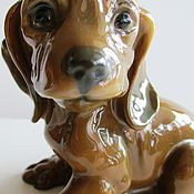Винтаж handmade. Livemaster - original item ROSENTHAL Rosenthal DOG. The PUPPY DACHSHUND GERMANY Porcelain. Handmade.