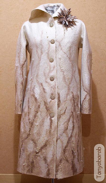 """Верхняя одежда ручной работы. Ярмарка Мастеров - ручная работа. Купить Пальто """" Песчаный лес"""". Handmade. Женская одежда"""