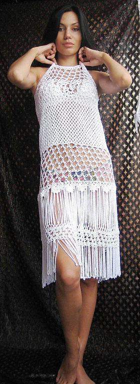 Юбки ручной работы. Ярмарка Мастеров - ручная работа. Купить Юбка -платье пляжная. Handmade. Белый, эротическое, юбка-платье
