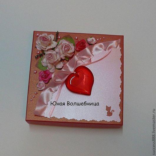 """Подарочная упаковка ручной работы. Ярмарка Мастеров - ручная работа. Купить Оригинальная упаковка - подарочная коробка """"Сердце"""". Handmade. Розовый"""
