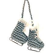 Елочные игрушки ручной работы. Ярмарка Мастеров - ручная работа Коньки подвеска. Handmade.