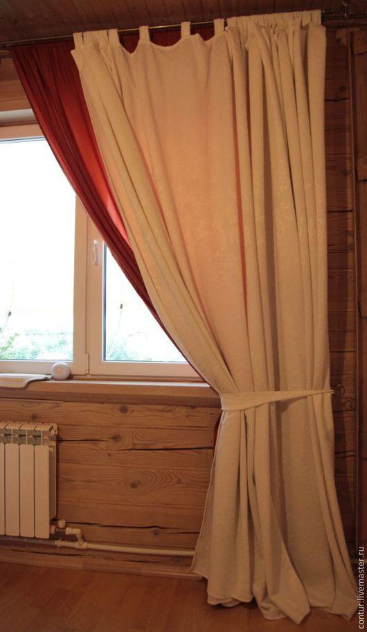 Текстиль, ковры ручной работы. Ярмарка Мастеров - ручная работа. Купить Шторы в  спальню или гостиную белые тяжелые 4 полотна. Handmade.