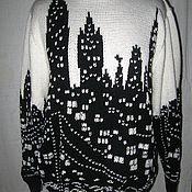 """Одежда ручной работы. Ярмарка Мастеров - ручная работа Пуловер """"Ночной город"""". Handmade."""