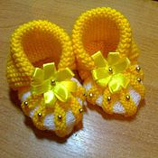 Обувь ручной работы. Ярмарка Мастеров - ручная работа Пинетки-туфельки для принцессы. Handmade.