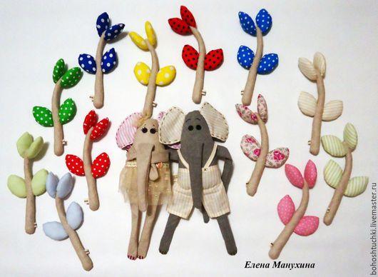 Игрушки животные, ручной работы. Ярмарка Мастеров - ручная работа. Купить Слоники влюблённые. Handmade. Комбинированный, игрушка ручной работы