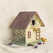 Для дома и интерьера ручной работы. Ярмарка Мастеров - ручная работа скворечник интерьерный Птичкин дом. Handmade.