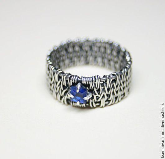 Кольца ручной работы. Ярмарка Мастеров - ручная работа. Купить Обручальное кольцо. Handmade. Тёмно-синий, синий, обручальное кольцо