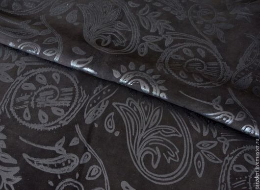 Шитье ручной работы. Ярмарка Мастеров - ручная работа. Купить Тонкая натуральная замша 0,55 мм - Пейсли. Handmade.