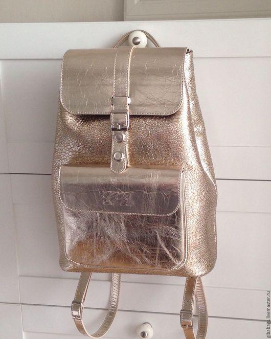 """Рюкзаки ручной работы. Ярмарка Мастеров - ручная работа. Купить Рюкзак """"GiBa"""" Mondoro Gold. Handmade. Рюкзак женский кожаный"""
