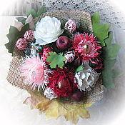 Подарки к праздникам ручной работы. Ярмарка Мастеров - ручная работа Шоколадный букет Сентябрь. Handmade.