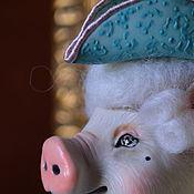 Куклы и игрушки handmade. Livemaster - original item Author`s doll Monsieur pig. Handmade.