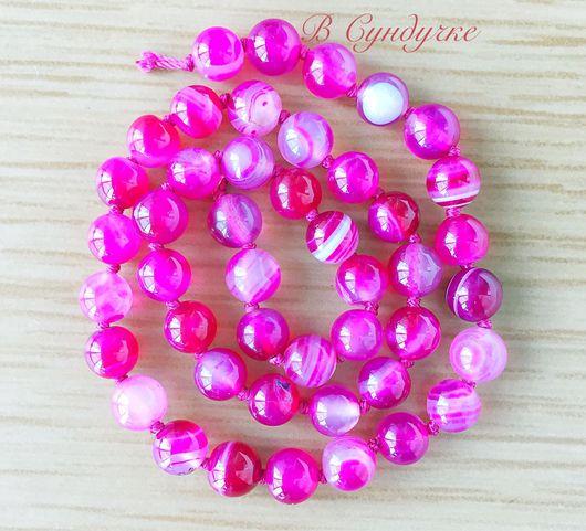 Для украшений ручной работы. Ярмарка Мастеров - ручная работа. Купить Агат Ботсвана розовый 8 мм. Handmade.