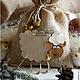 Новый год 2017 ручной работы. Ярмарка Мастеров - ручная работа. Купить Мешочек для подарков с овечкой-символ 2015 года!. Handmade.
