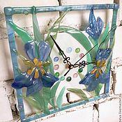 Для дома и интерьера ручной работы. Ярмарка Мастеров - ручная работа Часы Ирисы. Handmade.