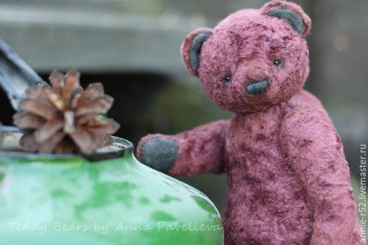 Мишки Тедди ручной работы. Ярмарка Мастеров - ручная работа. Купить Шишка. Handmade. Бордовый, опилки древесные