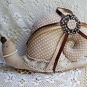 Куклы и игрушки ручной работы. Ярмарка Мастеров - ручная работа Тильда - улитка Капучино. Handmade.