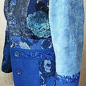 """Одежда ручной работы. Ярмарка Мастеров - ручная работа Авторское пальто """" Индиго"""". Handmade."""